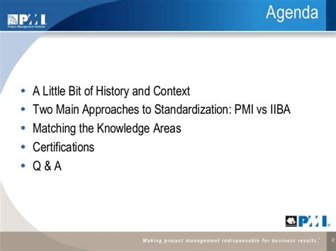 Pba Mba Requirements by Ba Standards Pmi Roch Mm 150714