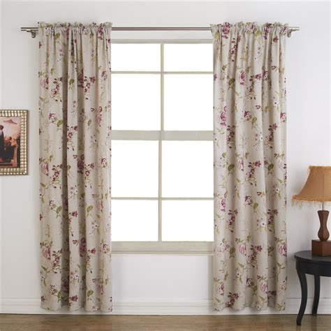 country bedroom curtains country style floral blackout thermal curtain for bedroom