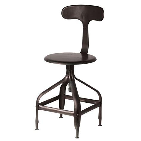 chaise de bureau industriel chaise noire indus t 233 l 233 graphe maisons du monde