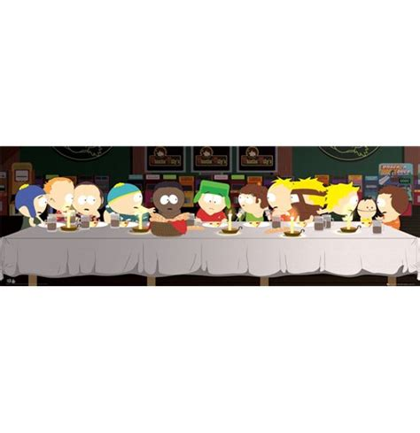 poster da porta south park last supper poster da porta 53x158 cm per