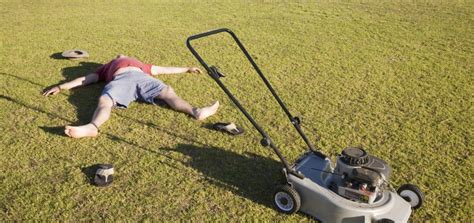 mowing the lawn is bad for your health