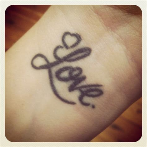 the word love tattoo designs 78 tattoos designs for your wrists