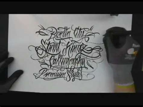 tattoo fonts youtube aneyone streetkingz pt2 lettering