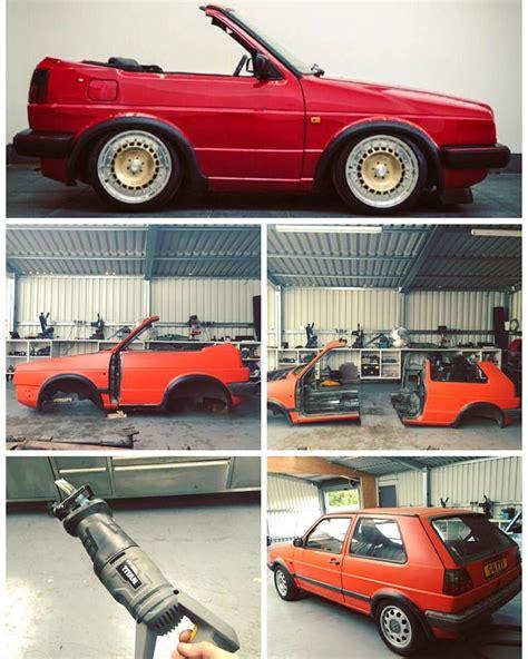 garage converts volkswagen golf 2 gti to