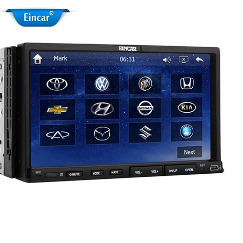 am mp 7 gps car stereo radio dvd video player 2 din built in