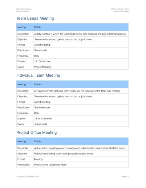 iwork templates communication plan apple iwork
