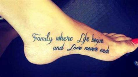 family tattoo quotes cute quotes tattoos best cute quote tattoos for girls