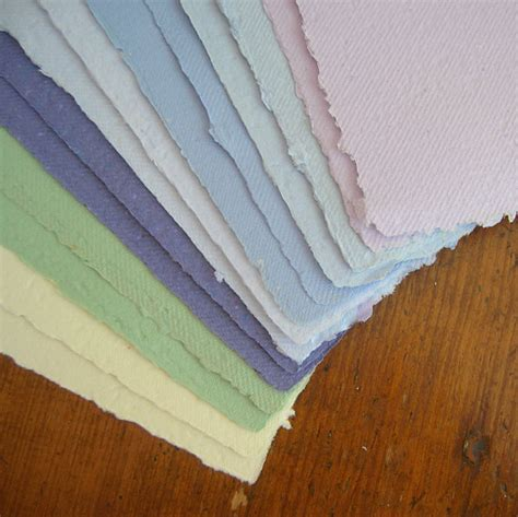 Handmade Paper Sheets - sheets of handmade paper with a deckle edge variety by pulpart