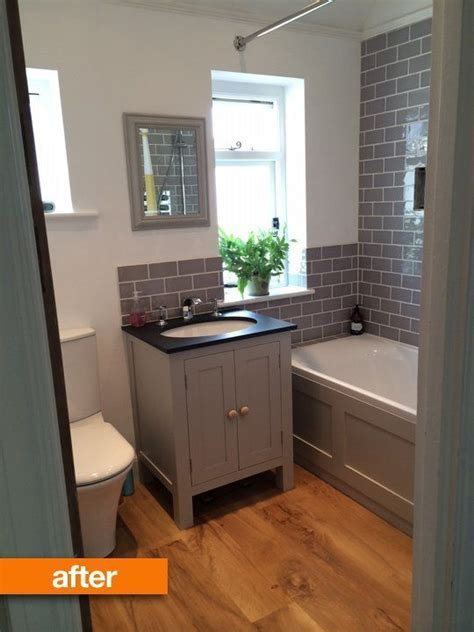 going vertical with subway tile apartment therapy before after naomi s beautiful british bathroom