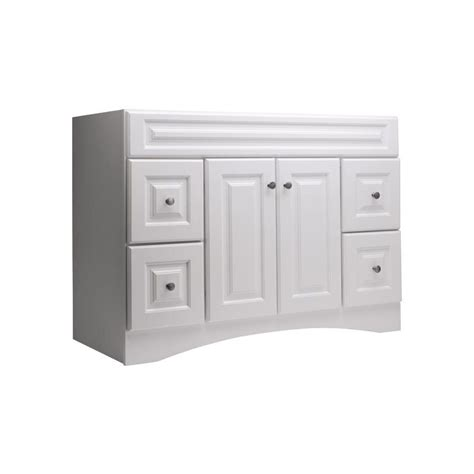 Lowes White Bathroom Vanity by Style Selections 20d Vsdb48 Northrup 48 In X 21 In White