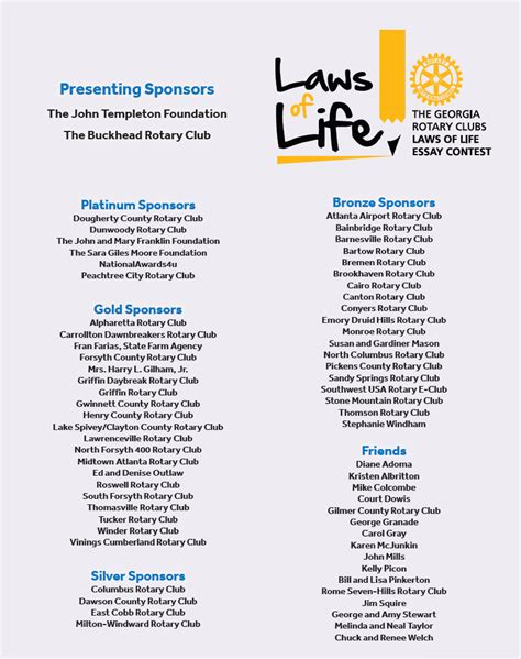 Laws Of Essay Contest by Thank You 2016 2017 Sponsors Laws Of Essay Contest