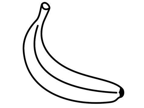 banana coloring page only coloring pages