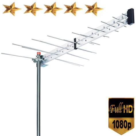 boostwaves yagi roof top tv antenna optimized hdtv digital