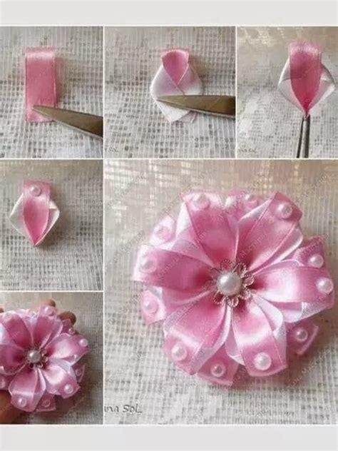 como hacer flores en cinta o liston goshii youtube tutoriales de flores de liston imagui