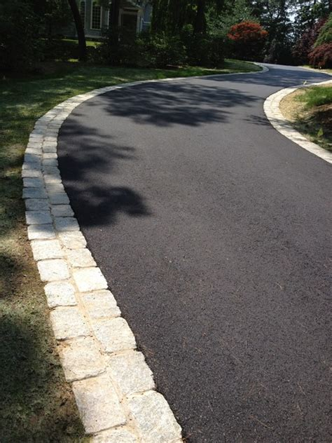 Landscape Timbers Driveway Edging Driveways With Cobblestone Edges Traditional Other