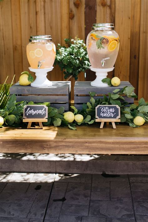 Rustic Baby Shower Theme by Kara S Ideas Rustic Lemon Themed Baby Shower Kara