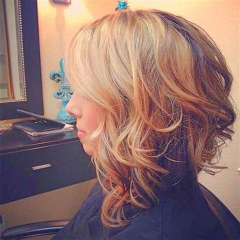 black short hair styles stacked freeze curls flips 20 gorgeous long curly bob hairstyles with pictures