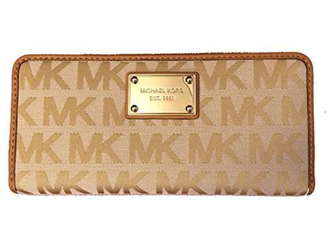 Mk Zipper Wallet Dompet Resleting Mk michael kors jet set continental mk logo zip around wallet beige camel luggage brown swish