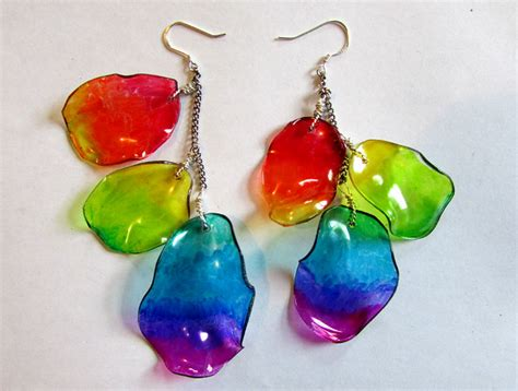 how to make plastic jewelry recycle plastic bottle into earrings tutorial