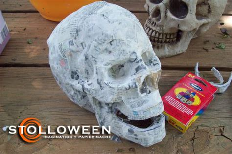 How To Make Paper Mache Skulls - how to skull replication stolloween