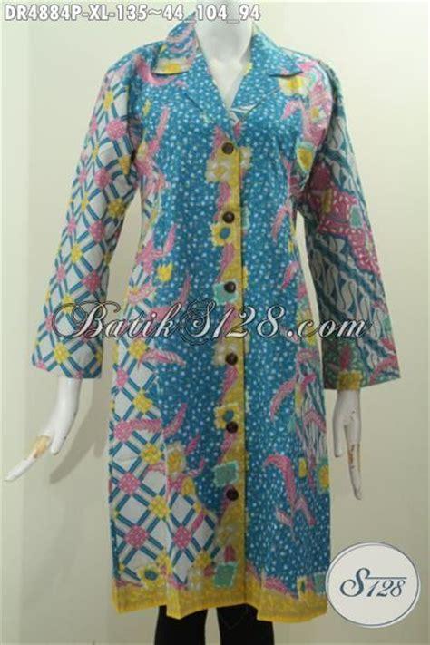 Baju Untuk Kerja Kantoran baju dress formal kerah safari pakaian batik printing untuk kerja kantoran warna pagi sore