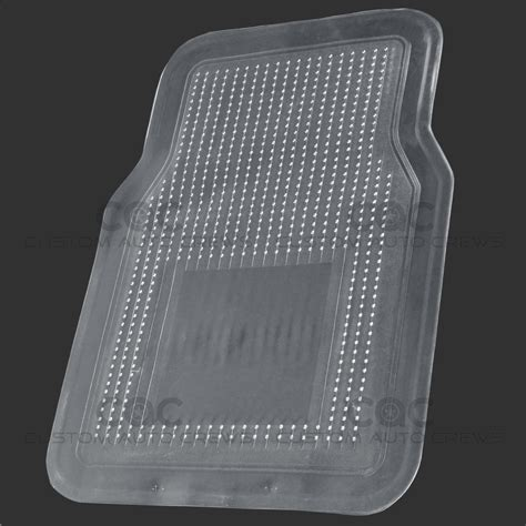 Clear Vinyl Mats by Car Floor Mat Rubber Clear Pvc Vinyl 4 Pc Set All Weather