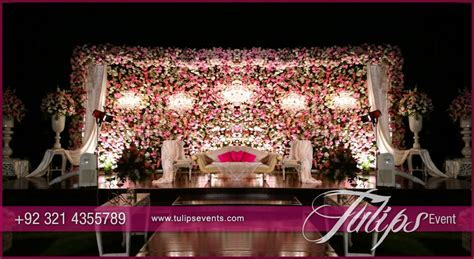 Pink Engagement Stage Design   Tulips Event Management