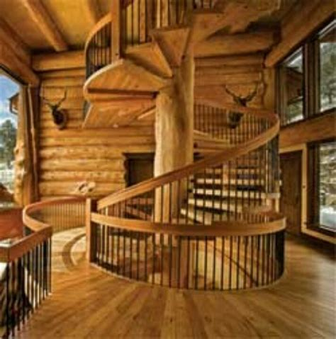 Log Cabin Stairs log cabin stairs future house