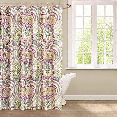 paisley curtains uk echo design vineyard paisley fabric shower curtain purple