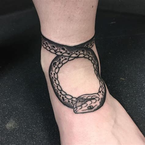 ouroboros tattoo wrist simple snake ankle tattoos pictures www picturesboss