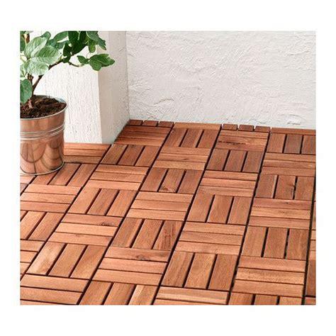 ikea patio tiles runnen floor decking outdoor brown stained terrace