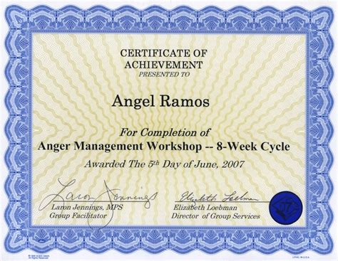 anger management certificate template toilet paper sabine heinlein