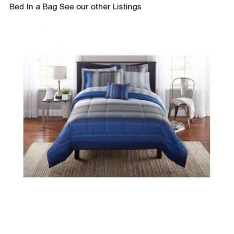 blue grey boy s xl size comforter set bedding