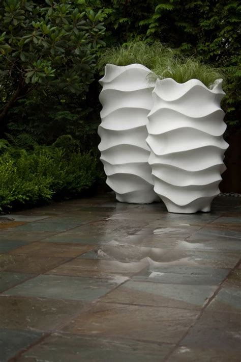 design planters tall and elegant flower pots contemporary concrete planters and sculpture by adam christopher