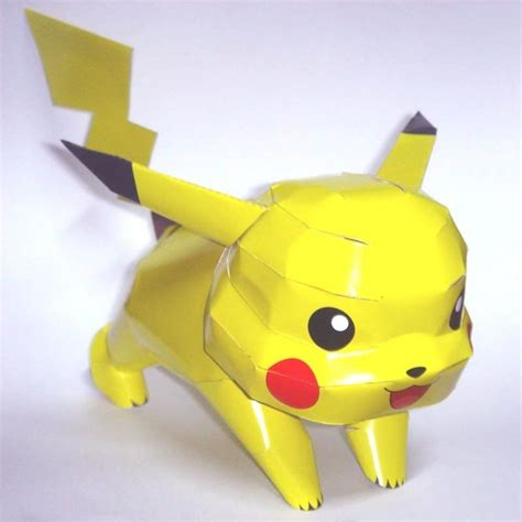 Pikachu Origami Advanced - diy pikachu origami 3d anime japan model paper ebay