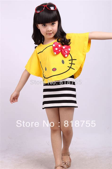 kids clothing storage the happy housewife home 2014 fashion girls dresses sets summer cartooon hello