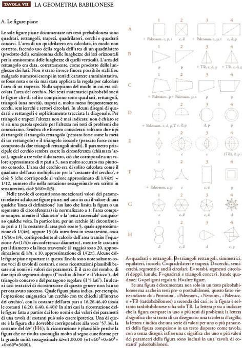 tavole matematiche vicino oriente antico la matematica in quot storia della scienza quot