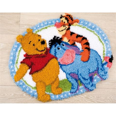 and friends rug pooh and friends oval rug latch hook vervaco pn 0146210