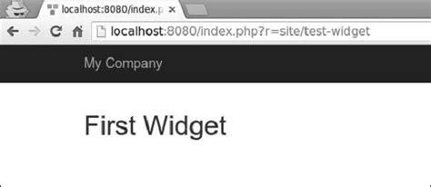 yii widget tutorial yii widgets