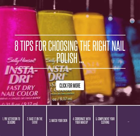 8 tips for choosing the right nail makeup