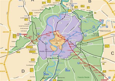 roma mobilità ztl rome ztl zone map
