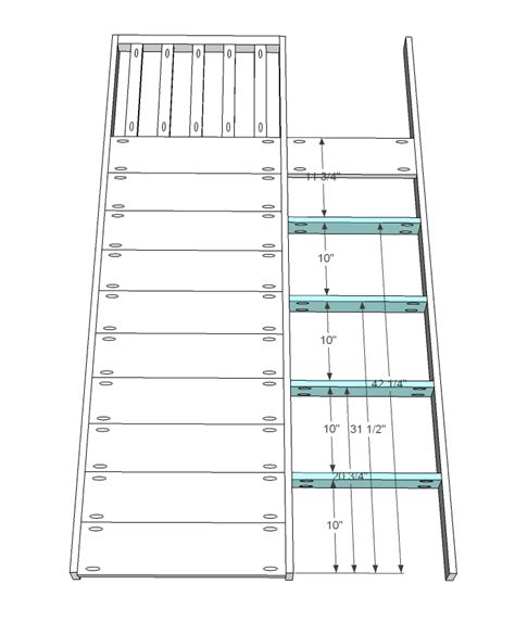 bunk bed ladder plans ana white little cottage loft bed diy projects