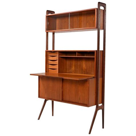 Teak Room Divider Modern Teak Room Divider Wall Unit By Kurt Ostervig At 1stdibs