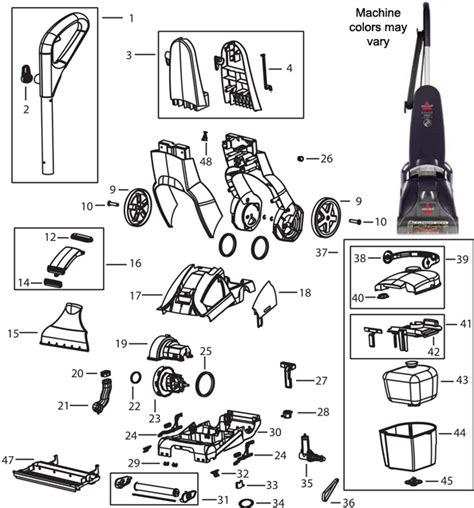 bissell carpet cleaner parts diagram bissell powerlifter carpet cleaner parts carpet vidalondon