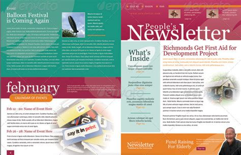 newsletter template designs free 4 pages newsletter template metroeast design inspiration