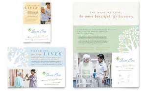 elder care amp nursing home flyer amp ad template design