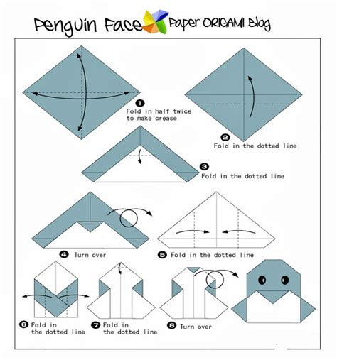 Paper Folding Animals - marvelous penguin origami origami pages