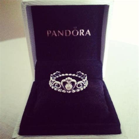 pandora crown ring with princess rings