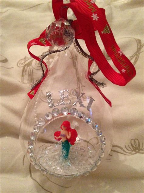 handmade glass christmas disney inspired bauble decoration