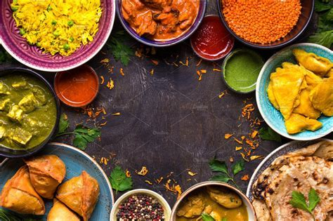 Indian food background ~ Food & Drink Photos ~ Creative Market